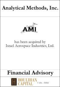 Analytical Methods, Inc - Financial Advisory Tombstone