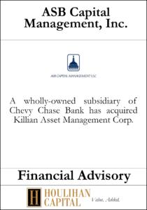 ASB Capital - Financial Advisory Tombstone