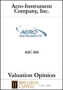Aero-Instrument ASC 805 - Valuation Opinion Tombstone
