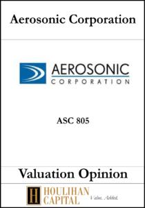 Aerosonic Corporation - ASC 805 - Valuation Opinion Tombstone
