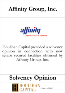 Affinity Group, Inc - Solvency Opinion Tombstone