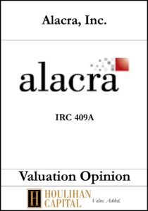 Alacra - 409A - Valuation Opinion Tombstone