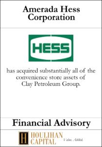 Amerada Hess Corporation - Financial Advisory Tombstone