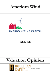 American Wind Capital - ASC 820 - Valuation Opinion Tombstone