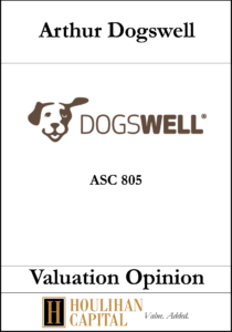 Arthur Dogswell - ASC 805 - Valuation Opinion Tombstone