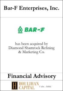 Bar-F Enterprises - Financial Advisory Tombstone