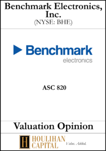 Benchmark Electronics - ASC 820 - Valuation Opinion Tombstone