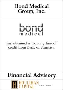 Bond Medical Group, Inc - Financial Advisory Tombstone