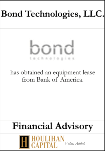 Bond Technologies - Financial Advisory Tombstone