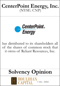CenterPoint Energy, Inc. - Solvency Opinion Tombstone