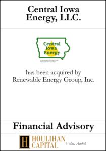 Central Iowa Energy - Financial Advisory Tombstone