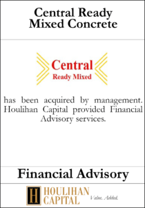 Central Ready Mixed Concrete - Financial Advisory Tombstone