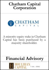 Chatham Capital Corporation - Financial Advisory Tombstone