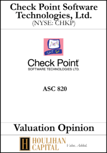 Check Point Software Technologies - ASC 820 - Valuation Opinion Tombstone