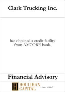 Clark Trucking - Financial Advisory Tombstone