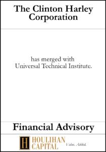 Clinton Harley Corporation - Financial Advisory Tombstone