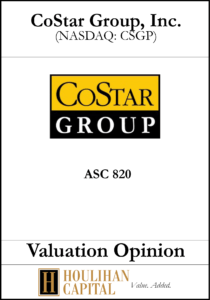 CoStar - ASC 820 - Valuation Opinion Tombstone