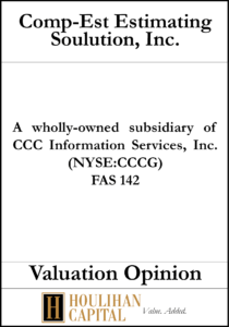 Comp-Est Estimating Solution, Inc. - FAS 142 - Valuation Opinion Tombstone