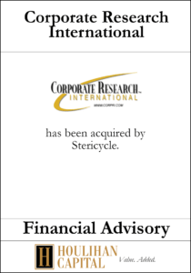 Corporate Research International - Financial Advisory Tombstone