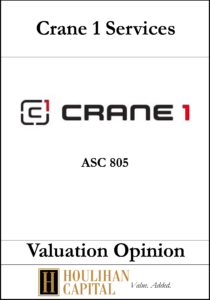 Crane1 Services - ASC 805 - Valuation Opinion Tombstone