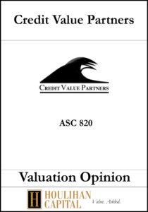 Credit Value Partners - ASC 820 - Valuation Opinion Tombstone