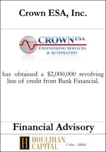 Crown ESA Inc - Financial Advisory Tombstone