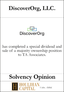 DiscoverOrg, LLC - Solvency Opinion Tombstone