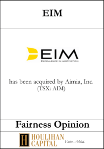EIM - Fairness Opinion Tombstone