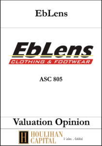 Eblens - ASC 805 - Valuation Opinion Tombstone