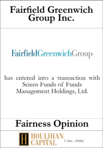 Fairfield Greenwich Group - Fairness Opinion Tombstone