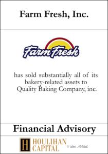 Farm Fresh, Inc - Financial Advisory Tombstone