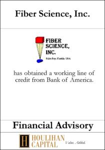 Fiber Science - Financial Advisory Tombstone
