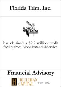 Florida Trim - Financial Advisory Tombstone