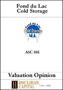 Fond du Lac - ASC 805 - Valuation Opinion Tombstone