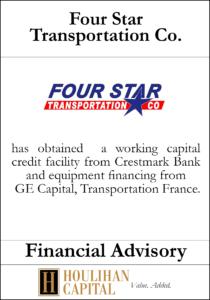 Four Star Transportation Co - Financial Advisory Tombstone