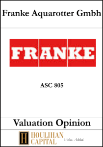 Franke Aquarotter - ASC 805 - Valuation Opinion Manager