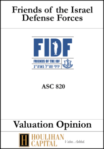 FIDF - ASC 820 - Valuation Opinion Tombstone