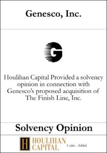 Genesco, Inc. - Solvency Opinion Tombstone