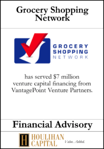 Grocery Shopping Network - Financial Advisory Tombstone