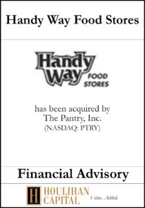 Handy Way Food Stores - Financial Advisory Tombstone