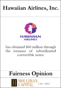 Hawaiian Airlines, Inc. - Fairness Opinion Tombstone