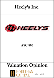 Heely's - ASC 805 - Valuation Opinion Tombstone
