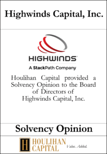 Highwinds Capital - Solvency Opinion Tombstone