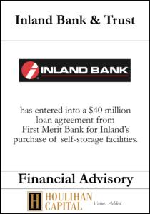 Inland Bank & Trust - Financial Advisory Tombstone