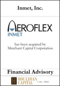 Inmet Inc - Financial Advisory Tombstone