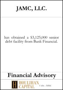 JAMC LLC - Financial Advisory Tombstone