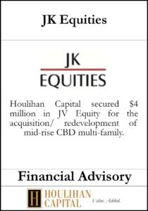 JK Equities - Financial Advisory Tombstone