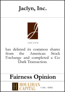Jaclyn - Fairness Opinion Tombstone