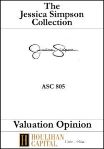 Jessica Simpson Collection - ASC 805 - Valuation Opinion Tombstone