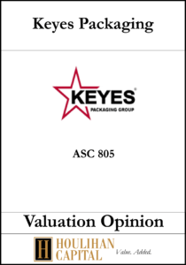 Keyes Packaging - ASC 805 - Valuation Opinion Tombstone